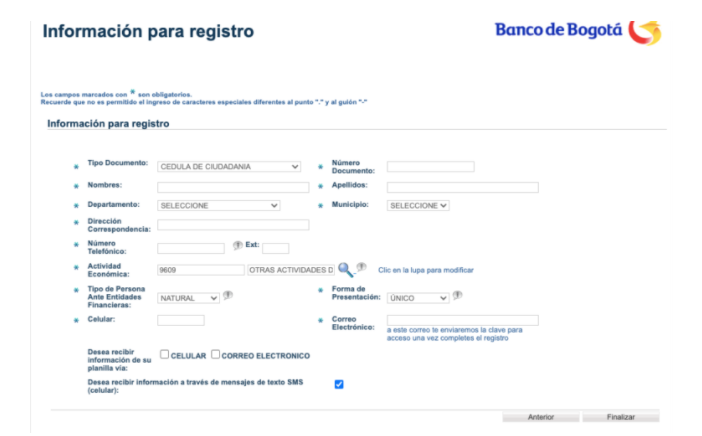 Cómo registrarse para descargar la Planilla SOI