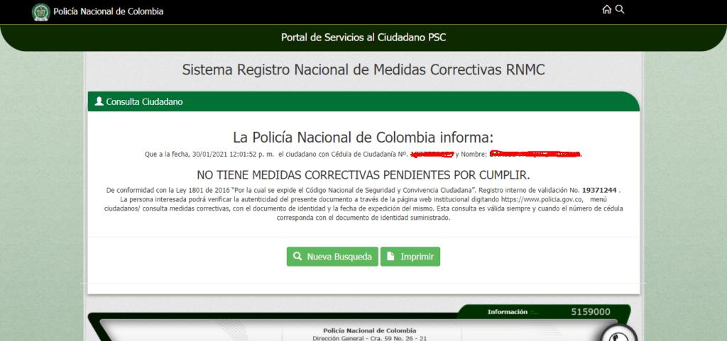 Descargar certificado de medidas correctivas