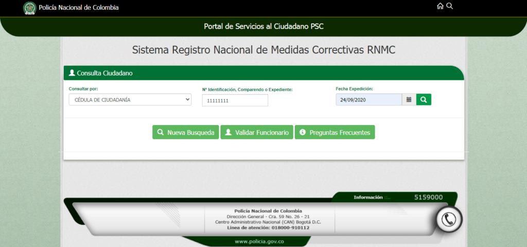 sistema registro nacional de medidas correctivas